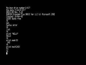 BUBCOM80起動直後画面
